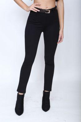 Παντελόνι Κολάν Σε Μαύρο,σε κρουστό ελαστικό ύφασμα.