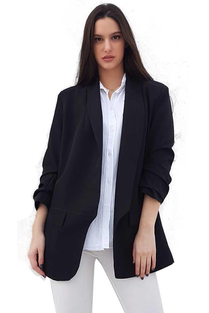 Σακάκι Oversize Σε Μαύρο πανωφορια γυναικεία ρούχα σακάκια
