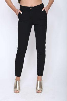 Παντελόνι Ελαστικό Σε Μαύρο,σε γκοφρέ ύφασμα .