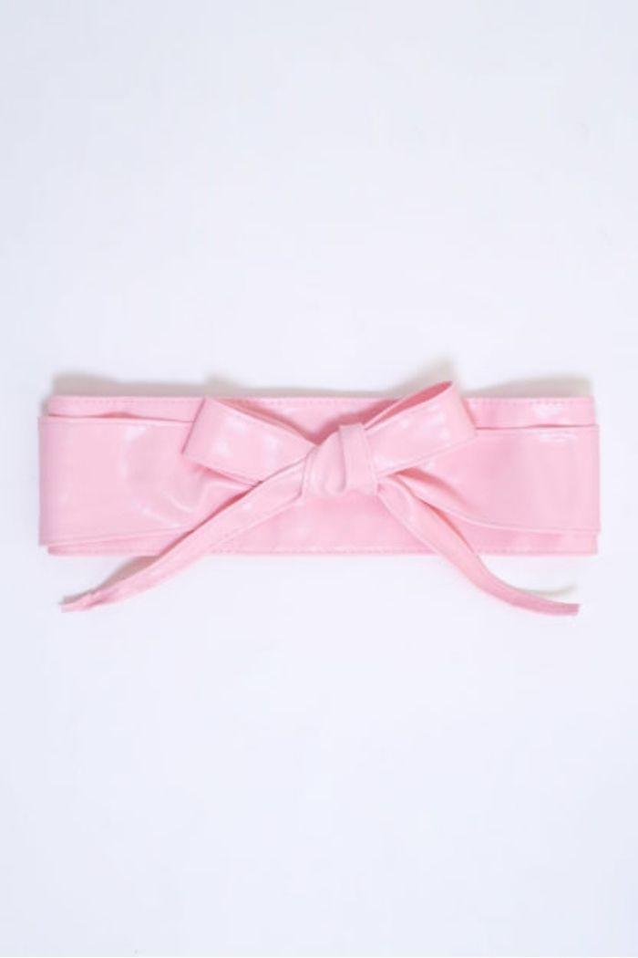 Ζώνη Με Δέσιμο Σε Ροζ χρώμα , που την φοράς στο ύψος που θέλεις.